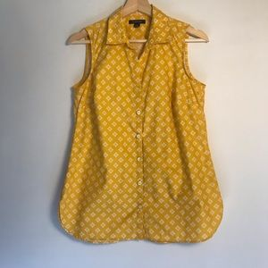Land's End Button Up Sleeveless Blouse